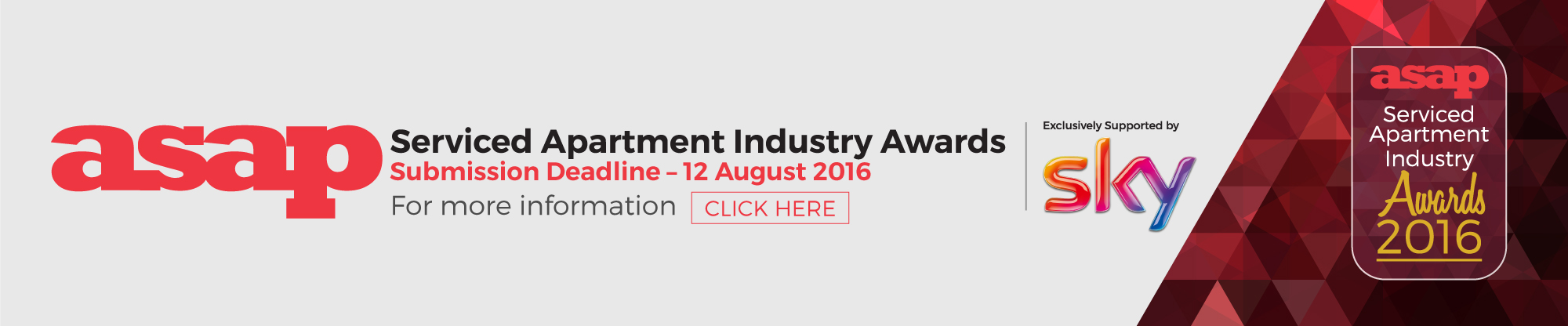 ASAP Serviced Apartment Industry Awards 2016
